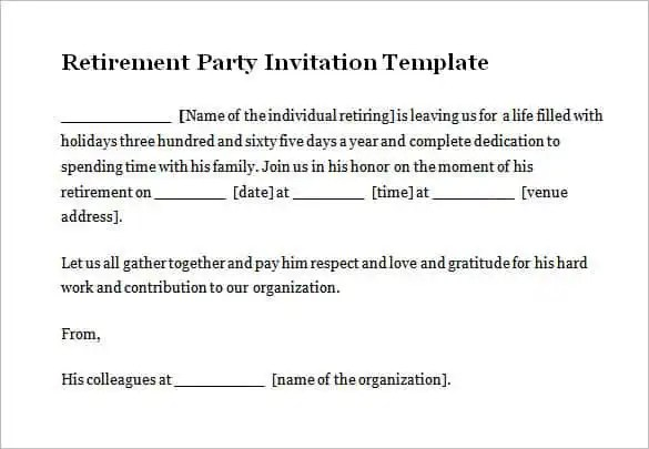54+ Microsoft Invitation Template - Free Samples, Examples - retirement party flyer template