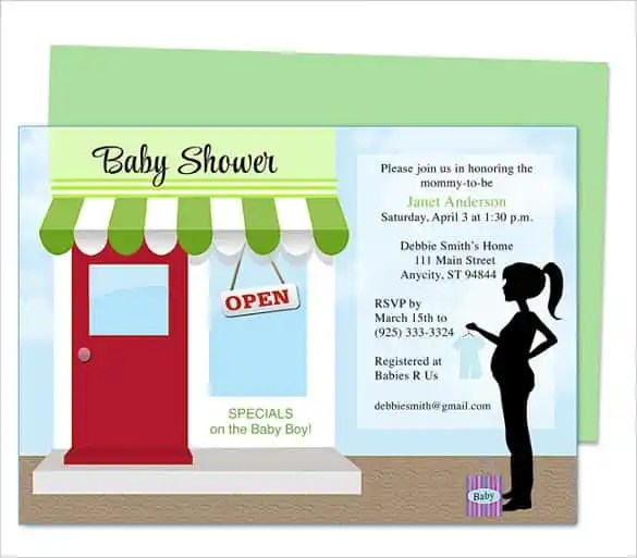 68+ Microsoft Invitation Template - Free Samples, Examples  Format - baby shower invitation template download