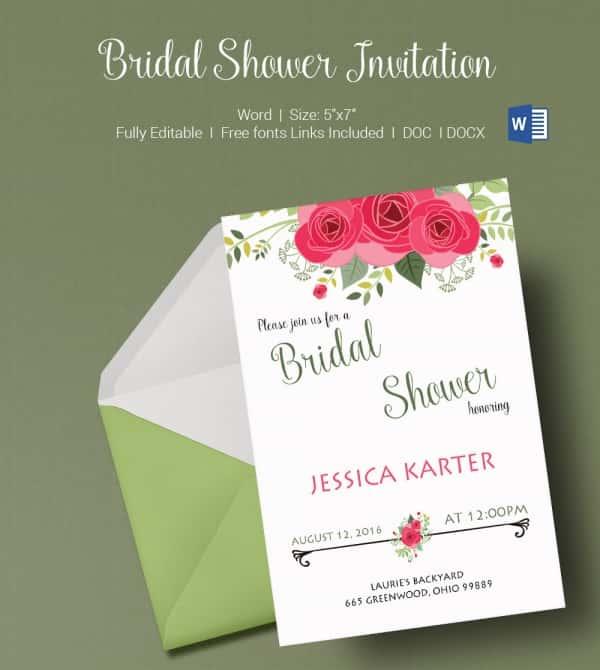 Bridal Shower Invitations Free Templates u2013 diabetesmanginfo - bridal shower invitation templates for word