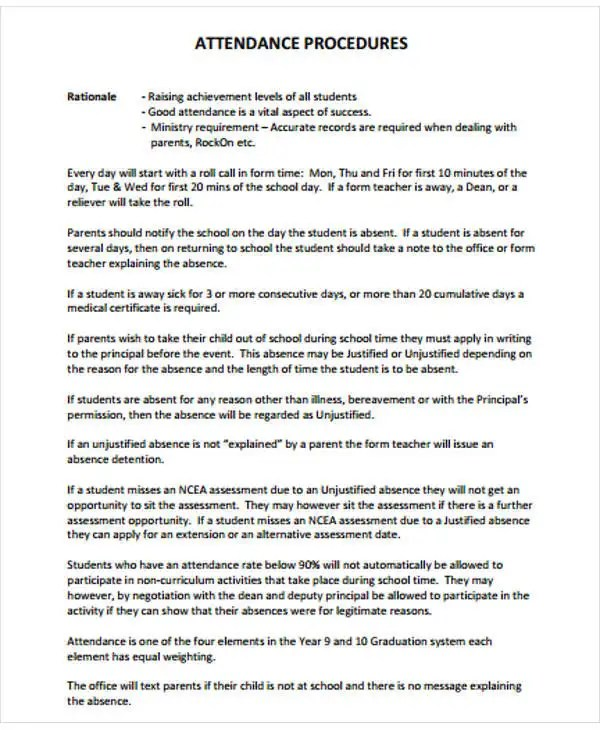 26+ Warning Letter Example Template Free  Premium Templates - absent from class letter