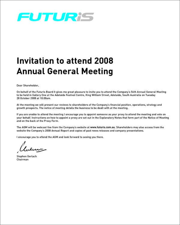annual meeting invitation template - Onwebioinnovate