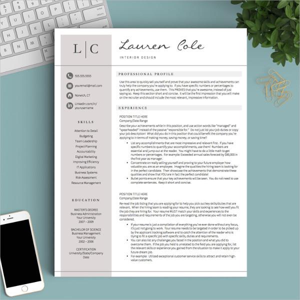 46+ Modern Resume Templates - PDF, DOC, PSD Free  Premium Templates - professional resume design templates
