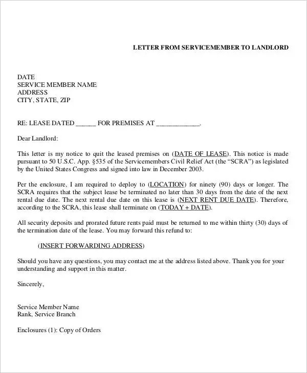 sle lease termination letter to landlord commercial - 28 images - landlord lease termination letter