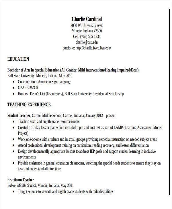 school teacher resume sample - zrom