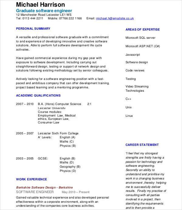 modern engineer resume