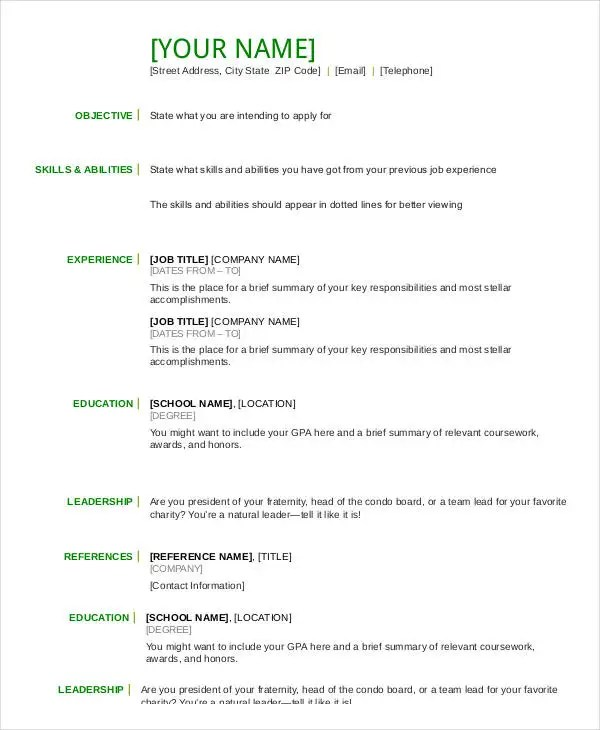 free resume template highlighting skills cover letter human