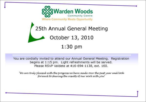 staff gathering invitation