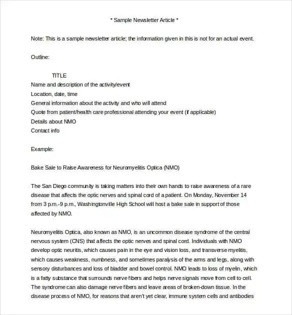 40+ Word Newsletter Template - PSD, PDF, Word Format Free - newsletter sample in word