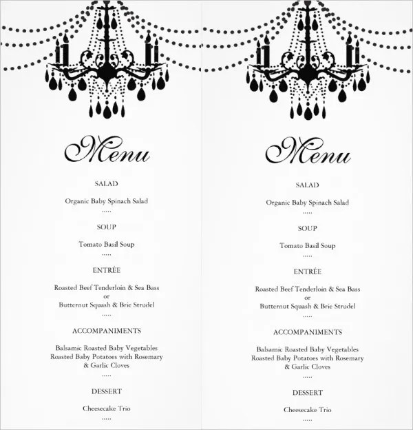 18+ Blank Event Menu Free  Premium Templates - event menu template