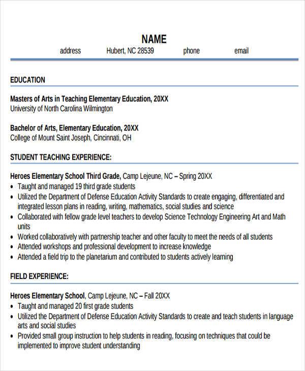 28+ Teacher Resume Templates Download Free  Premium Templates