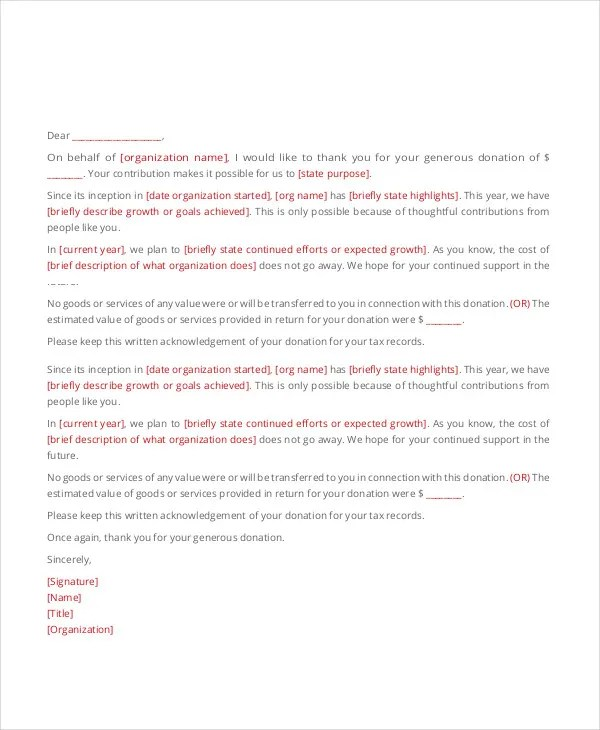 45+ Thank You Letter Example Templates Free \ Premium Templates - personal thank you letter