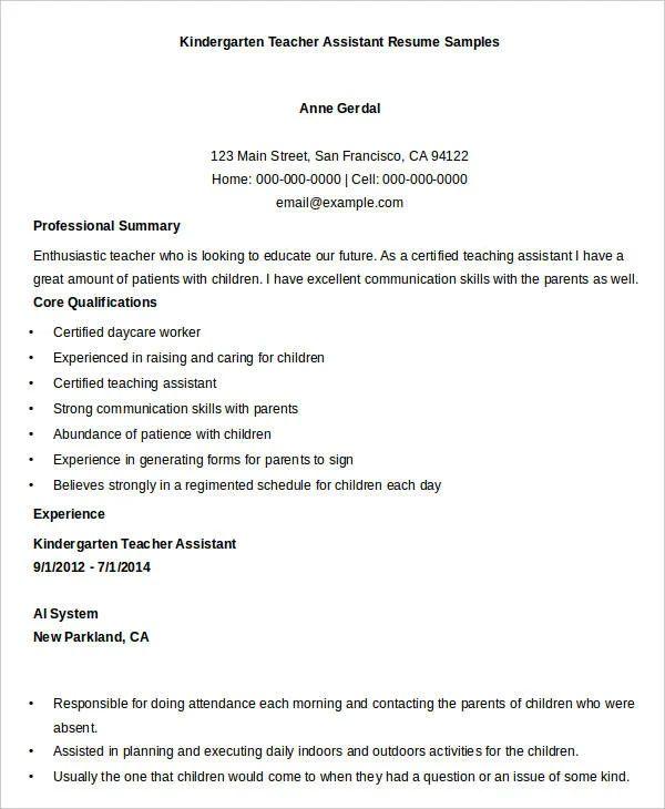 best free sample resume format