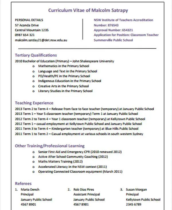 Resume Cover Letter With No Experience Sample Resume 40 Modern Teacher Resumes Free And Premium Templates