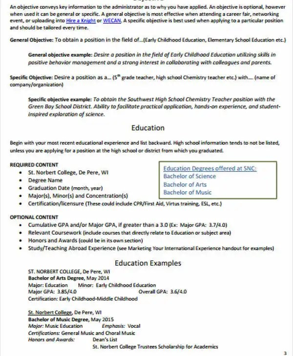 40+ Modern Teacher Resume Templates - PDF, DOC Free  Premium - International Experience Resume