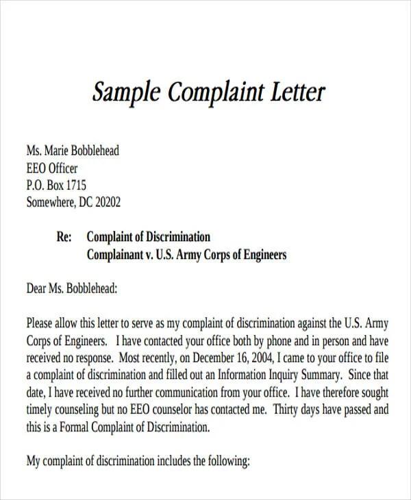 26+ Complaint Letter Formats Free  Premium Templates - Proper Complaint Letter Format