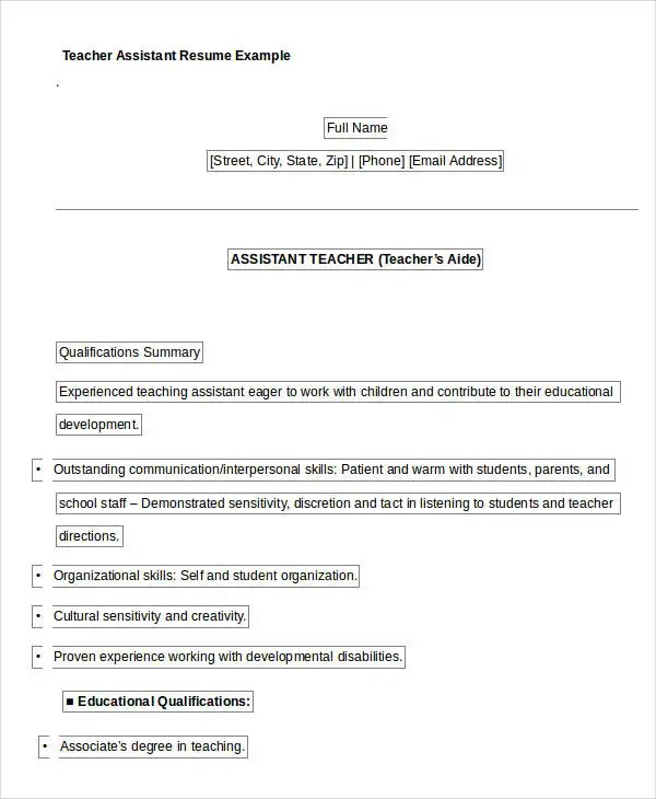 Free Teacher Resume - 40+ Free Word, PDF Documents Download Free