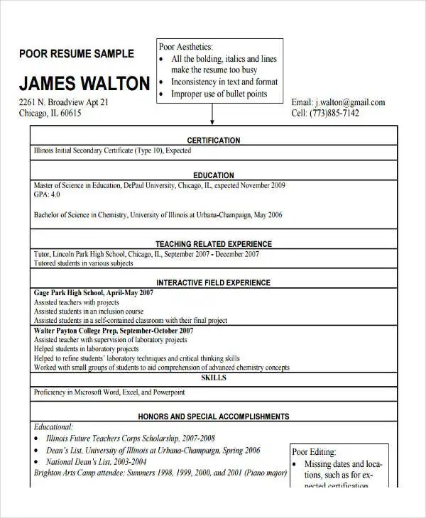 20+ Teacher Resume Templates - PDF, DOC Free  Premium Templates - inclusion assistant sample resume