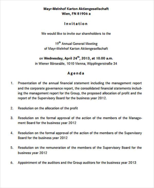 Draft Letter For Meeting Invitation Invitation Librarry 8 Meeting - Business Meeting Invitation Letter