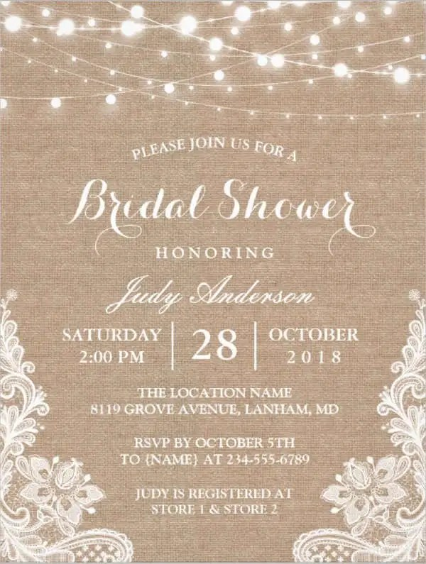 Free Bridal Shower Invitations Free  Premium Templates - bridal shower invitation templates