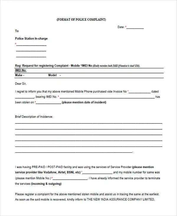 Business Letter Format Tips Writeexpress Complaint Letters In Pdf Free And Premium Templates