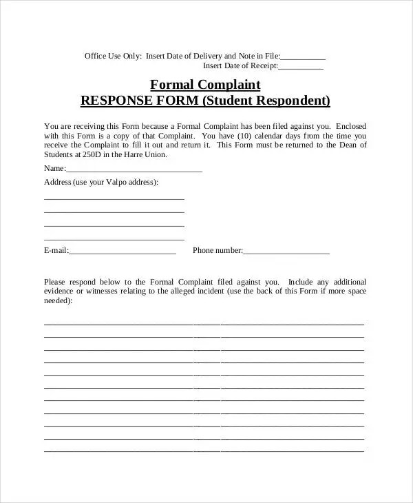 Complaint Letter Samples - 28+ Free Word, PDF Documents Download