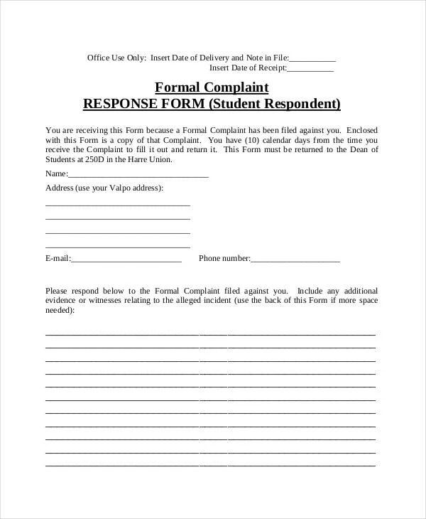 Complaint Template Letter  NodeCvresumeCloudUnispaceIo
