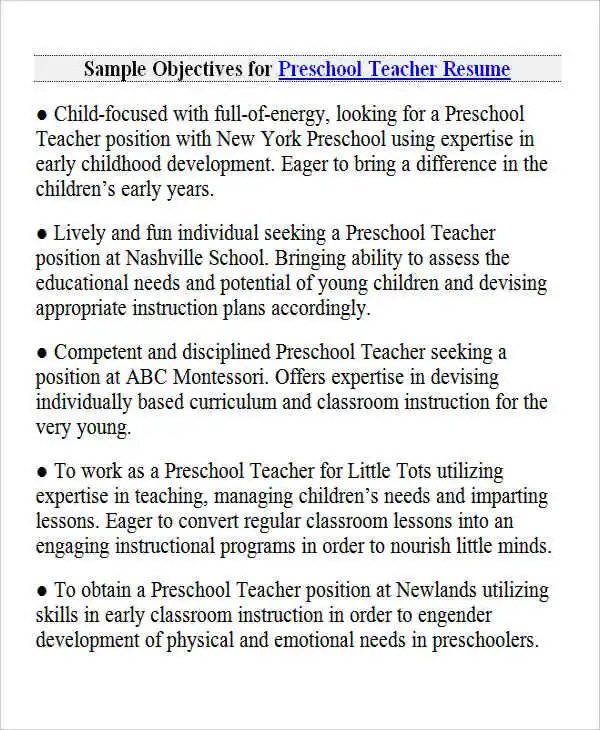 26+ Best Teacher Resumes Free \ Premium Templates - montessori teacher resume
