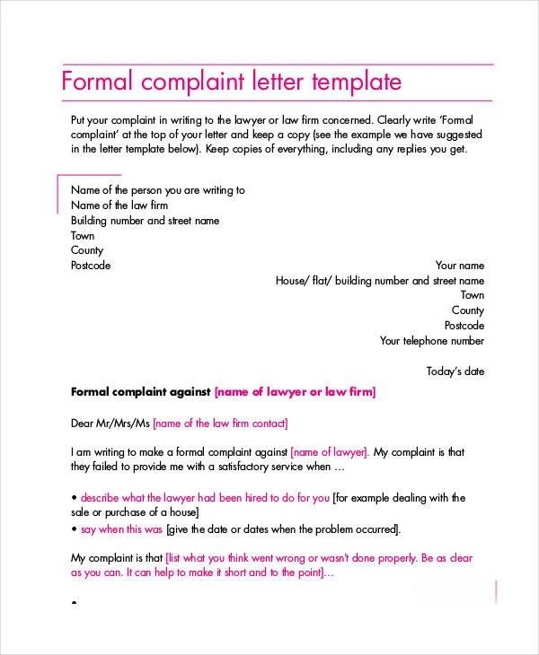 Proper complaint letter format node2004 resume template format complaint letter samples 28 free word pdf documents download proper complaint letter spiritdancerdesigns Choice Image