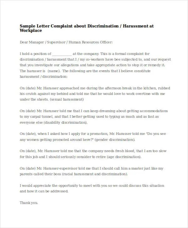 Complaints Letter Format  BesikEightyCo