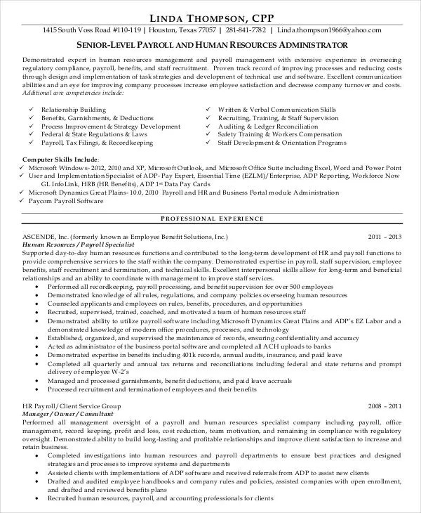 45+ Download Resume Templates - PDF, DOC Free  Premium Templates - compensation manager resume
