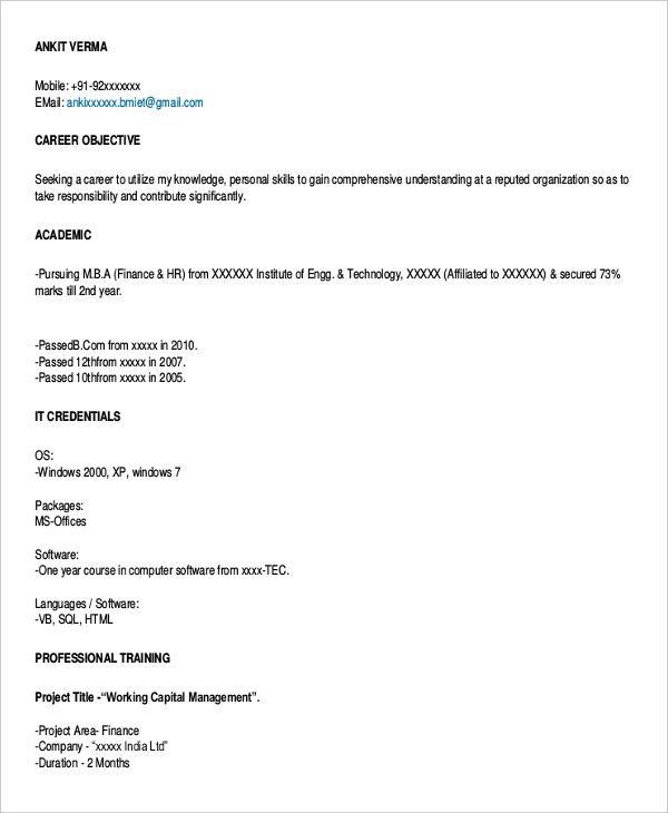 45+ Download Resume Templates - PDF, DOC Free  Premium Templates