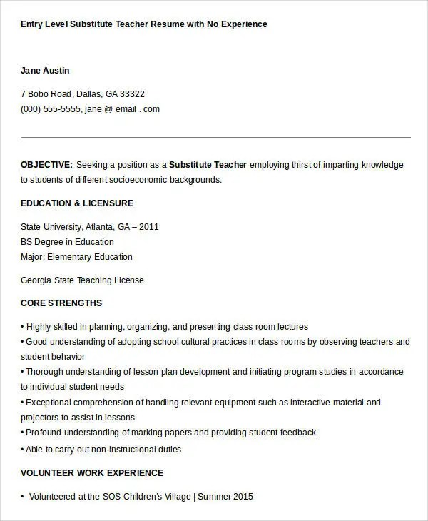 best sample resume for art and craft teacher contemporary simple