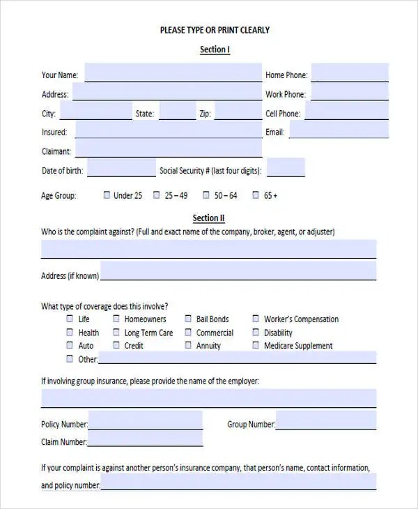 Complaint Letters in PDF Free  Premium Templates - customer complaints form template