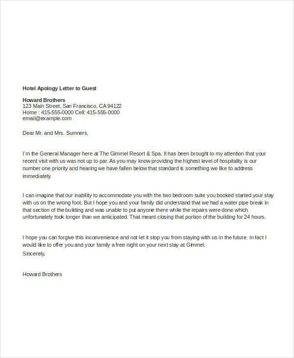 22+ Apology Letter Templates - PDF, DOC Free  Premium Templates - apology letter to family