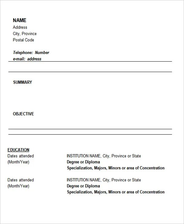 30+ Fresher Resume Templates - PDF, DOC Free  Premium Templates - download resumes