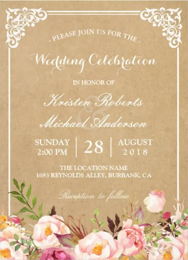 wedding invitation design templates