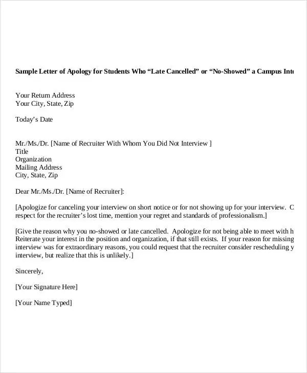 Apology Letter Templates - 22+ Free Word, PDF Documents Download - apology letter for being late