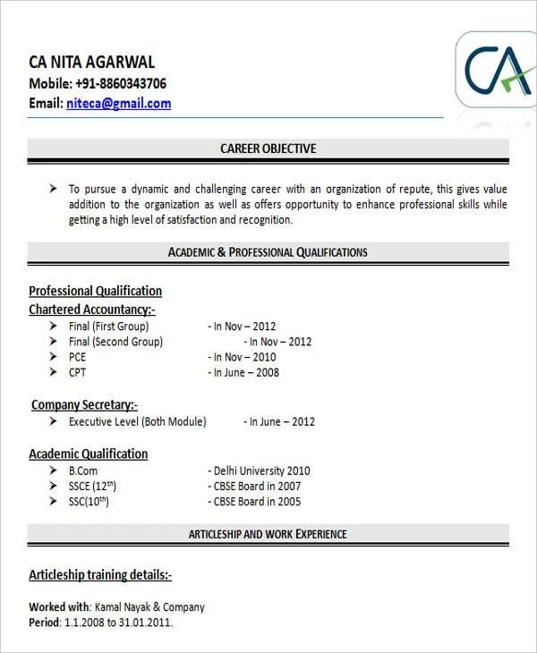 30+ Fresher Resume Templates - PDF, DOC Free  Premium Templates