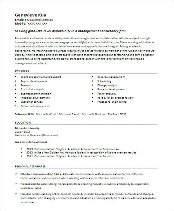 45+ Fresher Resume Templates - PDF, DOC Free  Premium Templates