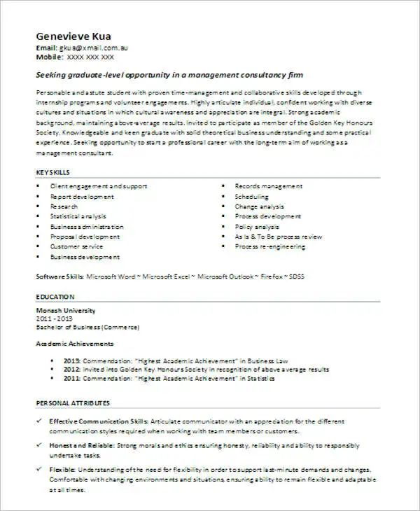 resume format doc download for fresher