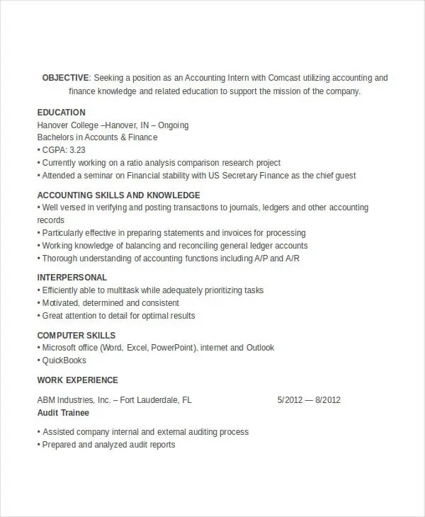 30+ Accountant Resume Design Templates - PDF, DOC Free  Premium - accounting skills resume