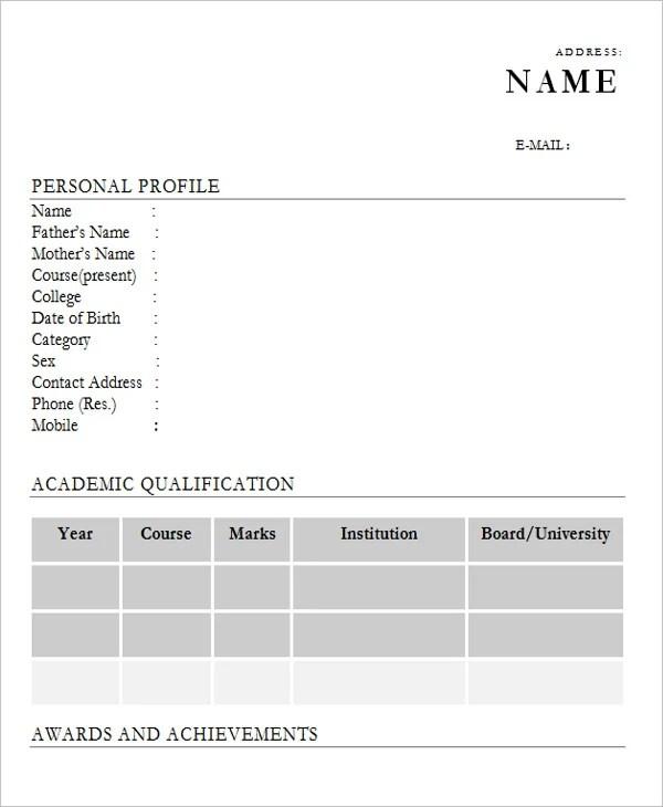 28+ Free Fresher Resume Templates Free  Premium Templates - mba fresher resume sample