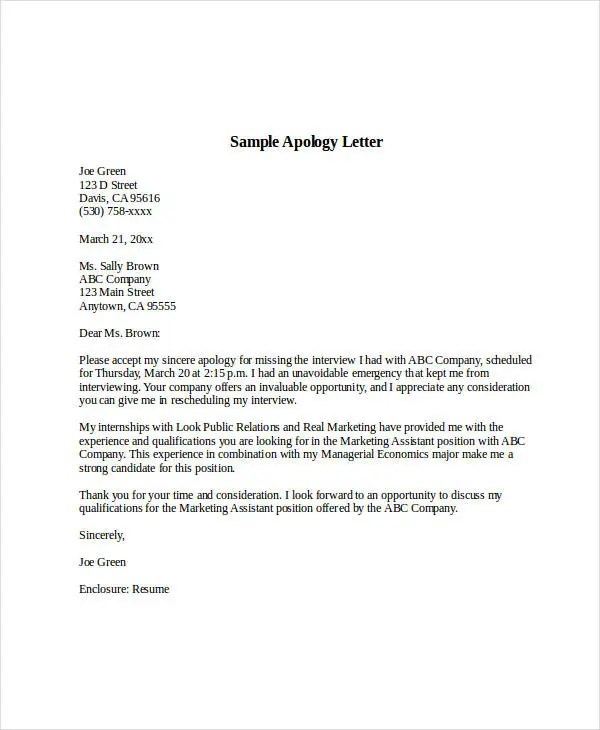 Sample Apology Letter Templates - 13+ Free Word, PDF Documents - How To Make An Apology Letter