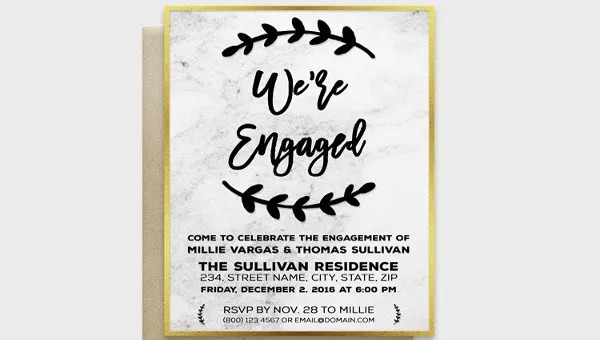 49+ Engagement Invitation Designs - PSD, AI, Vector EPS Free