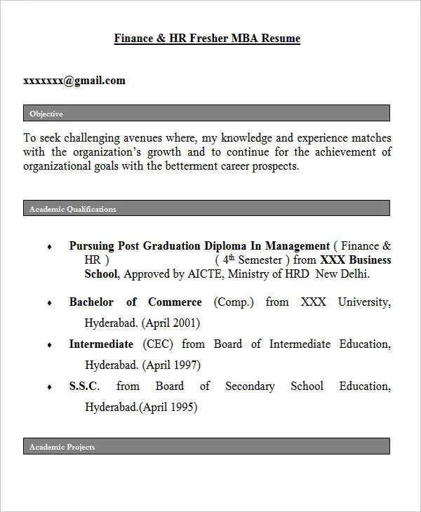 28+ Free Fresher Resume Templates Free  Premium Templates