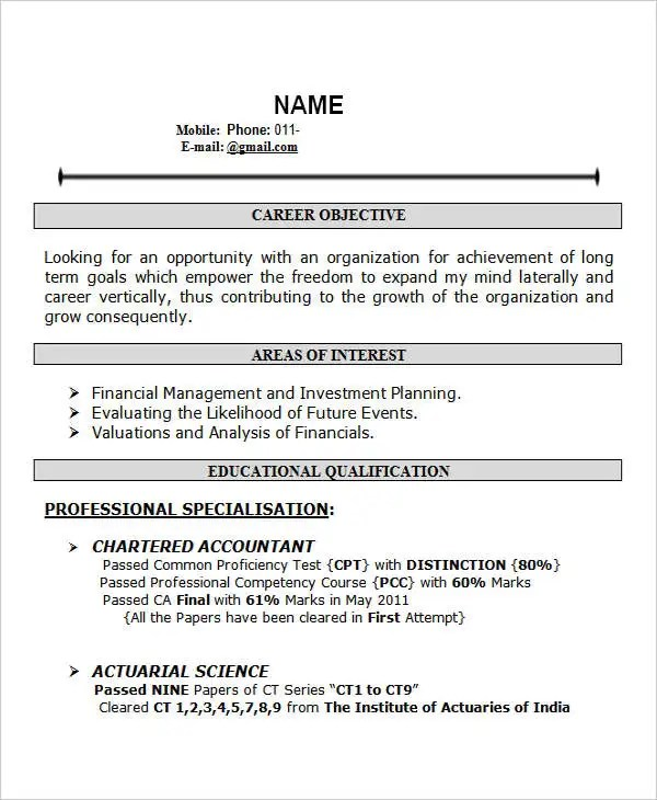 Resume Template For Fresher 10 Free Word Excel Pdf 28 Free Fresher Resume Templates Free And Premium Templates
