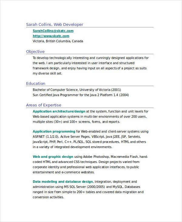 11+ Fresher Resume Samples Free  Premium Templates - database designer resume