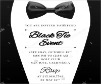 Black Tie Event Invite