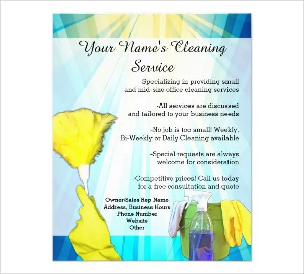 Printable Flyer Templates - 50+ Free PSD, Vector AI, EPS Format - house cleaning flyer template