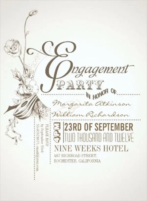 Engagement Card Template engagement invitation card paperinvite - engagement invites templates free